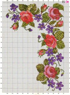 Counted Cross Stitch Pattern P Cross Stitch Love, Cross Stitch Borders, Cross Stitch Flowers, Counted Cross Stitch Patterns, Cross Stitch Charts, Cross Stitch Designs, Cross Stitching, Cross Stitch Embroidery, Embroidery Patterns Free