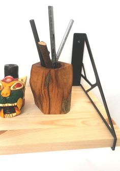 Pair of  iron shelf braskets by WINDBREAKshop on Etsy