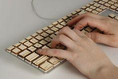 Engrain Tactile Keyboard by Michael Roopenian for better touch typing #Keyboard #Michael_Roopenian