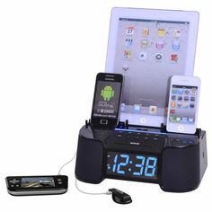 Easy-dok CR34 Alarm Clock Charges Six Gadgets Once
