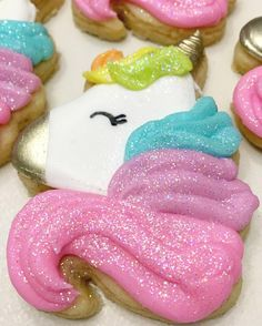 Pretty Unicorn Cookies