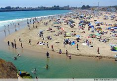 People come from all over to enjoy the sun at the beach in Santa Cruz