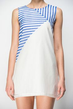Stripes Print Shift Dress | Your Style Code