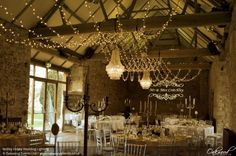 Notley Abbey Wedding Lighting. Lighting by Oakwood Events.