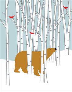 Bear in the Birch