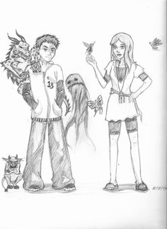 Fablehaven Fan Art!  Seth and Kendra