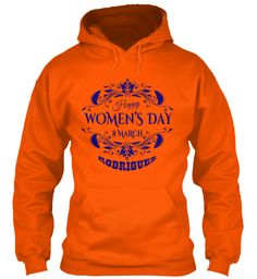 Rodriguez Women Day Safety Orange Sweatshirt Front