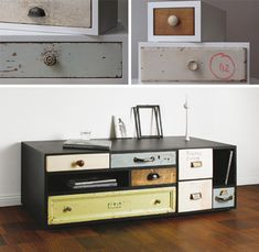 antique drawers in modern furniture.