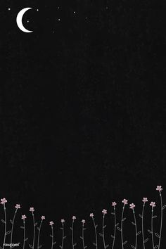 Blooming flowers and Flower Background Wallpaper, Flower Phone Wallpaper, Cute Wallpaper Backgrounds, Tumblr Wallpaper, Pretty Wallpapers, Cartoon Wallpaper, Cool Wallpaper, Black Flowers Wallpaper, Black Wallpapers Tumblr