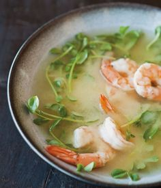 Miso Soup with Shrimp and Pea Shoots Recipe | Williams-Sonoma Taste