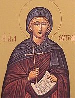 "Not only is it Christmas Day, it is also the Feast of: Saint Eugenia (? - 258) She was said to have been the daughter of Philip, ""duke"" of Alexandria and governor of Egypt. She had fled her father's house dressed in men's ,,,(see the rest of the story here:) https://www.facebook.com/St.Eugene.OMI/"