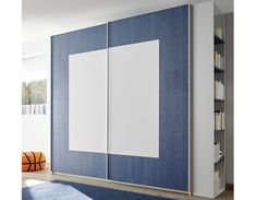 Armoire design bleue et blanche NATHEO 3 Armoire Design, Design Bleu, Bathroom Medicine Cabinet, Divider, Mirror, Furniture, Home Decor, Fitted Wardrobes, Decoration Home