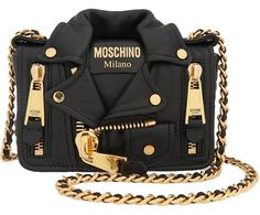 2a1b9900979 Moschino Biker Black Clutch. Get the trendiest Clutch of the season! The Moschino  Biker