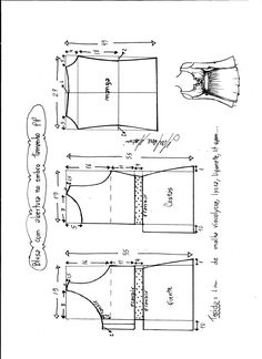 The best DIY projects & DIY ideas and tutorials: sewing, paper craft, DIY. DIY Women's Clothing : blusa-abertura-hombro-escote-M -Read Baby Dress Patterns, Baby Clothes Patterns, Kids Patterns, Sewing Patterns Free, Clothing Patterns, Make Your Own Clothes, Diy Clothes, Fashion Sewing, Diy Fashion