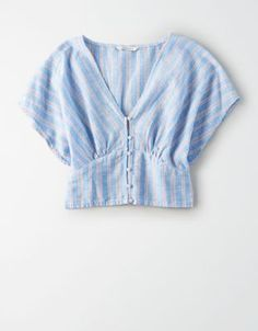 AE Dolman Button Front Shirt by American Eagle Outfitters Crop Top Outfits, Cute Casual Outfits, Mens Outfitters, Eagle Outfitters, Diy Clothes, Blouse Designs, Shirt Blouses, Blouses For Women, Fashion Outfits