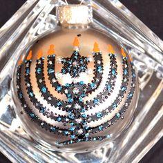 Menorah with Star of David Hanukkah Decoration