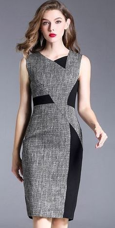 Buy Brief Irregular Neck Hit Color Sleeveless Bodycon Dress with High Quality an. - Outfits for Work - Buy Brief Irregular Neck Hit Color Sleeveless Bodycon Dress with High Quality an. Elegant Dresses, Casual Dresses, Dresses Dresses, Bandage Dresses, Hippie Dresses, Chic Outfits, Dress Outfits, Trendy Outfits, Look Fashion