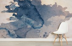"""For that grunge look that will instill that """"cool"""" effect, this watercolour wallpaper is easily a very solid option for any homeowner."""
