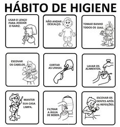 Pedagógiccos: Hábitos de higiene : atividades (parte 1)
