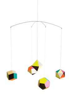 The mobile can be defined as moving sculpture. Early mobiles did not necessarily move, as do most crib mobiles today. The modern crib mobile is… Moma Store, Geometric Decor, Geometric Shapes, Geometric Origami, Abstract Shapes, Cool Christmas Trees, Affordable Home Decor, Nursery Inspiration, Design Inspiration