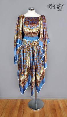 1960's Hippie Scarf Dress