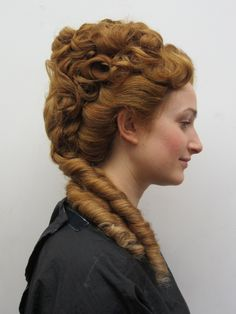 Advanced Hair All work below is done by students at the end of their Delamar… Renaissance Hairstyles, Historical Hairstyles, Victorian Hairstyles, Vintage Hairstyles, Girl Hairstyles, Wedding Hairstyles, Advanced Hair, Natural Hair Styles, Long Hair Styles