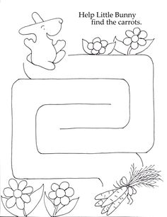 Help Little Bunny find the carrots. Three Mazes from easy to hard this one is medium.