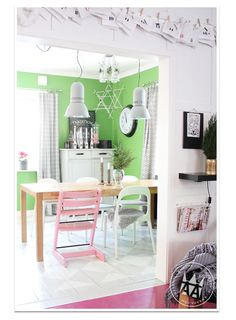 dining space//colours..