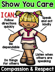 PBIS posters and printables for teaching the traits of Compassion and Respect AND Responsibility and Integrity Classroom Rules, Classroom Behavior, Classroom Posters, Preschool Classroom, Preschool Activities, Kindergarten, Social Skills Lessons, Teaching Social Skills, Social Emotional Learning