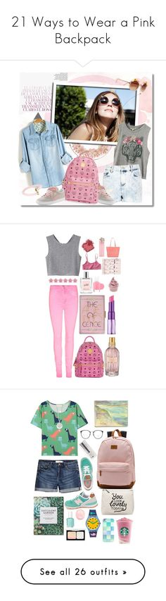 """21 Ways to Wear a Pink Backpack"" by polyvore-editorial ❤ liked on Polyvore featuring waystowear, pinkbackpack, Dorothy Perkins, River Island, Puma, MCM, Marc by Marc Jacobs, GetTheLook, Monki and philosophy"