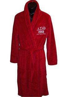 Delta Sigma Theta fleece robe