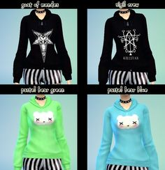 8 sweetshirts at DecayClown's Sims via Sims 4 Updates
