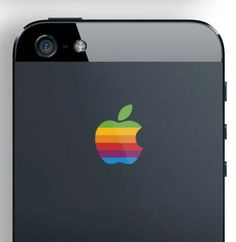 Retro Apple Logo Decal for your iPhone