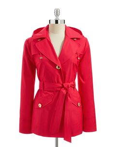 Short Single Breasted Trench Coat