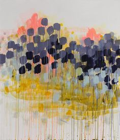 I chose this piece of artwork because it depicts the use of saturated colors with the grey and black splotches alongside more bright and unsaturated colors like yellow and orange.