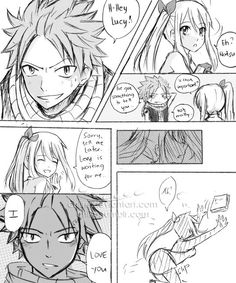 NaLu Short DJ by chiire on DeviantArt Fairy Tail Love, Fairy Tail Nalu, Fairy Tail Natsu And Lucy, Fairy Tail Ships, Me Anime, Girls Anime, Anime Art, Nalu Fanart, Nalu Comics