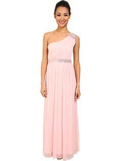 Alejandra Sky Sheer Matte One-Shoulder Dress