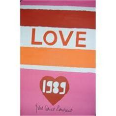 YSL 1989 Love Poster