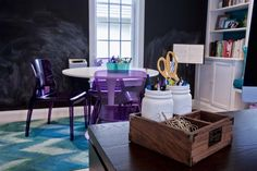 More details of this amazing Kids Suite designed by down2earth interior designs. A mix of study and play. #office design, #study interiors. Philadelphia Interior Designer http://down2earthinteriordesign.com/portfolio_page/home-offices/