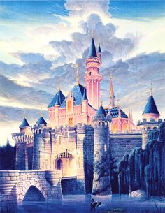 Sleeping Beauty Castle Secrets and Facts Bedroom Wall Designs, Bedroom Door Design, Bedroom Murals, Aurora, Sleeping Beauty Castle, Twisted Disney, Types Of Houses, Disney Art, Disney Stuff