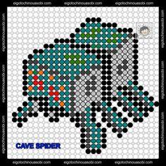 Cave Spider Minecraft Perler Bead Pattern