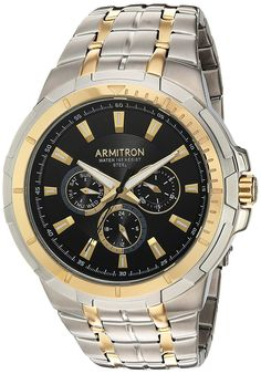 Armitron Men's 20/5144BKTT Multi-Function Dial Two-Tone Bracelet Watch * Be sure to check out this awesome product. (This is an Amazon Affiliate link and I receive a commission for the sales)