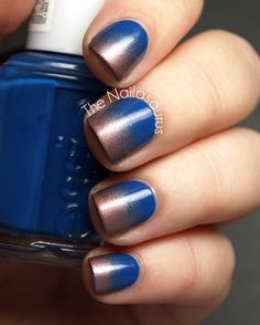 Bronze and blue gradient #nails Essie Mezmerised
