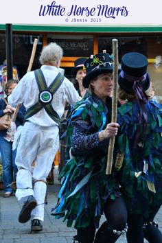 A great example of a Rag coat.   White Horse Morris, at the Wiltshire Pageant June 2015
