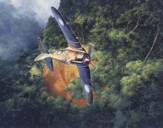 """""""Great sense of the difficult terrain in which these 4 & 5 Squadron Boomers operated."""" KB Commonwealth CA-13 Boomerang of the RAAF by Shigeo Koike"""