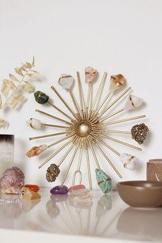 Crystal Garland, Crystal Wall, Rose Quartz Crystal, Crystal Grid, Crystal Shop, Crystal Healing, Crystal Altar, Clear Quartz, Diy Crystals