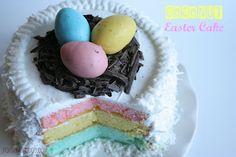 Cute Easter Coconut Cake via @PopsandPodge