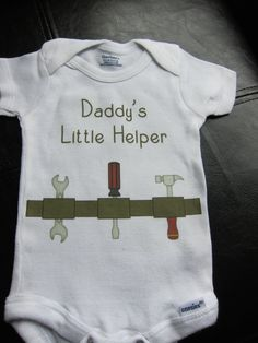 Daddy's Little Helper Tool Belt onesie for baby boy novelty gift cute