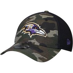sports shoes 52764 aefda Men s Baltimore Ravens New Era Camo Woodland Shock Stitch Neo 39THIRTY Flex  Hat, Your Price