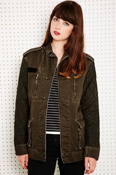 BDG Quilted Sleeve Surplus Jacket at Urban Outfitters